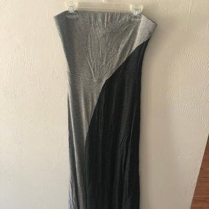 Mossimo Black and Grey Maxi Dress